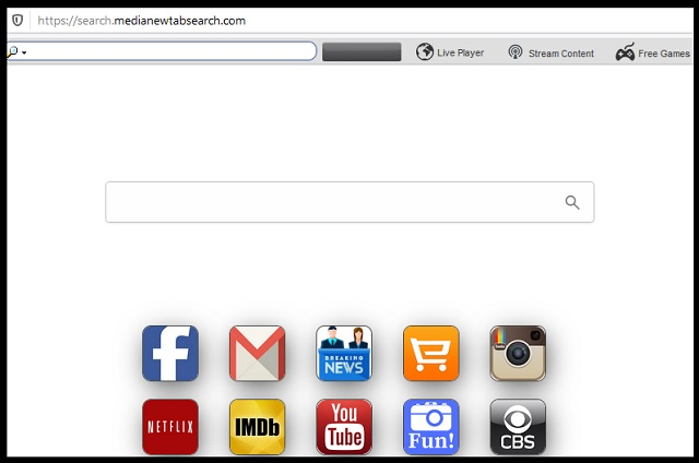 Remove Search.medianewtabsearch.com